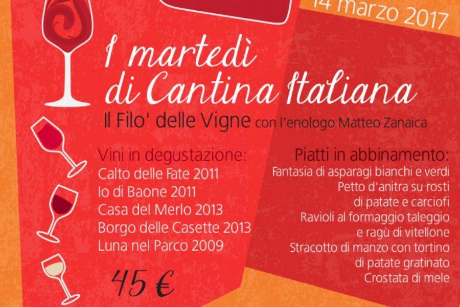 I martedì di Cantina Italiana – Il Filò delle Vigne – 14 marzo