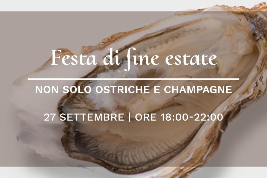 27 settembre – Non solo ostriche e Champagne