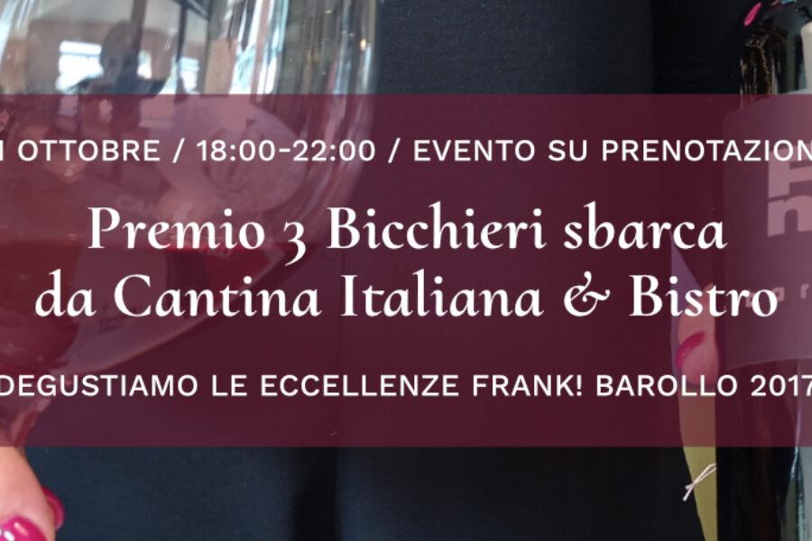 Premio 3 Bicchieri sbarca da Cantina Italiana & Bistro